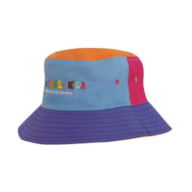 2bef49aebbf Breathable Poly Twill Childs Bucket Hat H-3941