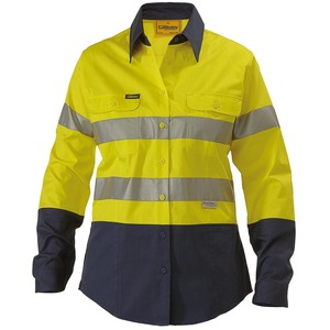 3M Taped Lightweight Hi Vis Shirt 2 Tone L/S (Women's)