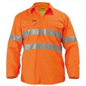 3M Taped Cool Lightweight Hi Vis Drill Shirt - Long Sleeve