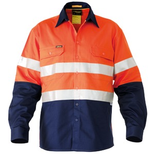 3M Taped Hi Vis Industrial Cool Vented Shirt - Long Sleeve