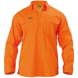 Cool Lightweight Hi Vis Drill Shirt  - Long Sleeve