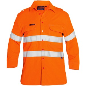 Tencate Tecasafe® Plus Taped 580 Taped Hi Vis Lightweight FR Vented Shirt - Long Sleeve