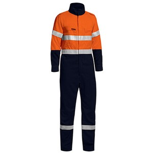 Tencate Tecasafe® Plus Taped Two Tone Hi Vis  Overall  - Stout