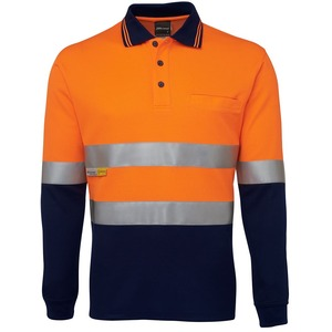 JB's Hi Vis L/S (D+N) Cotton Back Polo