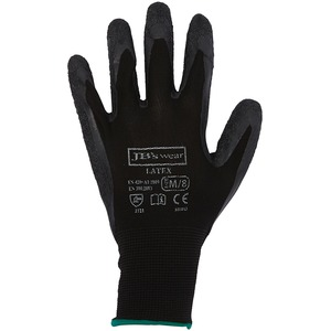 JB's Black Latex Glove (Per Pack Of 12)