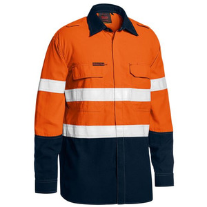 Tencate Tecasafe® Plus 480 Taped Hi Vis  Lightweight FR Vented Shirt - Long Sleeve