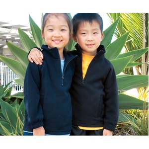Kids Plain Polar Fleece Pullover