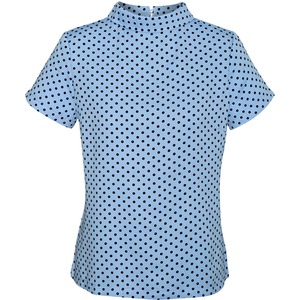 Ladies Lila Spot Print Top