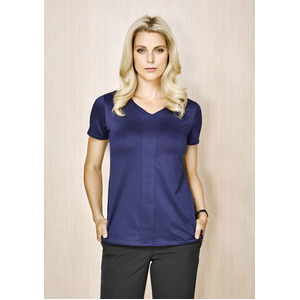 Ladies Mae Short Sleeve Knit Top