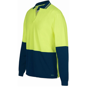JB's Hi-vis 4602.1 L/S Non Button Polo
