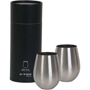 Stemless SS Wine Glass Set