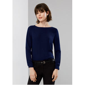 Madison Ladies Boatneck Blouse