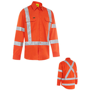 Taped X Back Biomotion Cool Lightweight Hi Vis Shirt - Long Sleeve