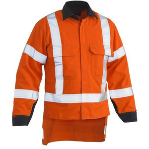 Tencate Tecasafe® Plus 700 X Taped Hi Vis TTMC-W FR Vented Shirt - Long Sleeve