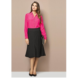 Fluted 3/4 Length Skirt