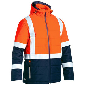 Taped Hi Vis Puffer Jacket (Shower Proof)