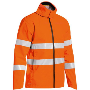 Taped Hi Vis Lightweight Mini Ripstop Rain Jacket With Concealed Hood (Waterproof)