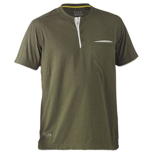 Flex & Move™ Cotton Henley Tee - Short Sleeve