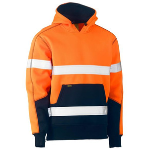 Taped Hi Vis Fleece Hoodie Pullover