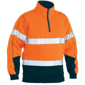 Taped Hi Vis Fleece Zip Pullover
