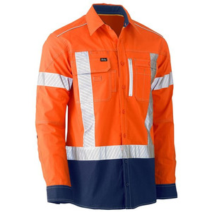 Flex & Move™ X Taped Hi Vis Utility Shirt - Long Sleeve