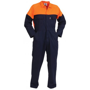 Contrast  Zip Cotton Overalls