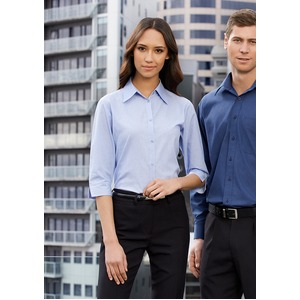 Micro Check Ladies ¾/S Shirt