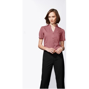 Chevron Ladies Stand Collar Shirt