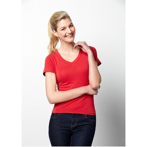 V Neck Stretch Ladies Tee