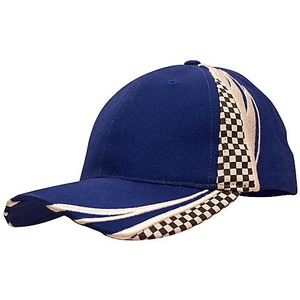 Brushed Heavy Cotton Cap w/ checks