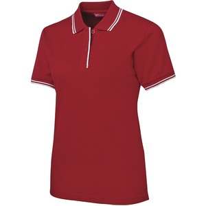 Ladies Contrast Short Sleeve Polo