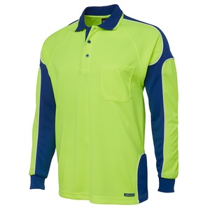 JB's Hi Vis 4602.1 Long Sleeve Arm Panel Polo