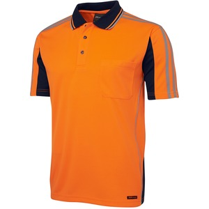 JB's Hi Vis 4602.1 Short Sleeve Arm Tape Polo