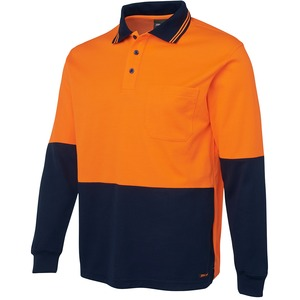 JB's Hi Vis Cotton Back Polo - Long Sleeve