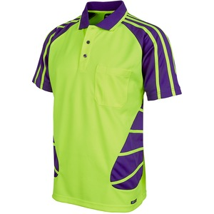 JB's Hi Vis Short Sleeve Spider Polo