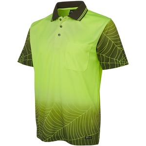 JB's Hi Vis Short Sleeve Web Polo