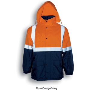Hi-Vis Polar Fleece Lined Jacket With Refl Tape