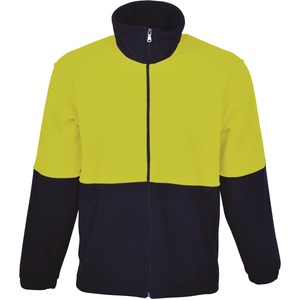 Hi-Vis Polar Feece Jacket With Full Zip