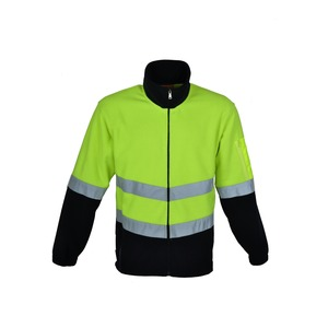 Hi-Vis Polar Fleece Jacket With Reflective Tape