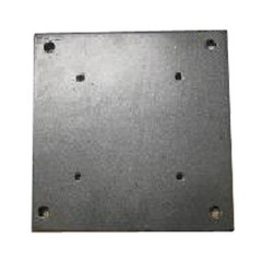 Base - Powder coated steel base plate for the cantilever