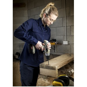Ladies Light Weight Tradie Shirt - L/Sleeve