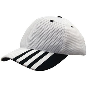 Sandwich Mesh Cap with Stripes