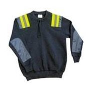 Crew Neck Patch Pullover With Reflector Patches