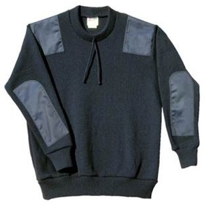 Crew Neck Patch Pullover
