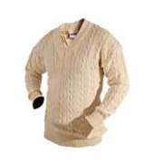 V Neck Cable Knit Cricket Pullover