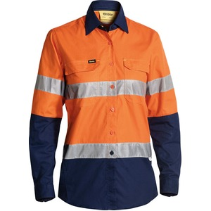 Womens 3M Taped X Airflow™ Ripstop Hi Vis Shirt - Long Sleeve