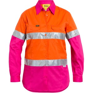 Womens 3M Taped Cool Lightweight Hi Vis Shirt  - Long Sleeve