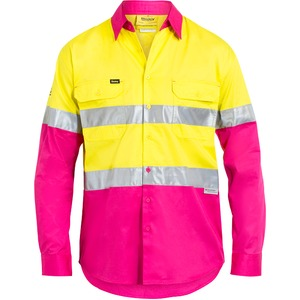 3M Taped Cool Lightweight Hi Vis Shirt  - Long Sleeve