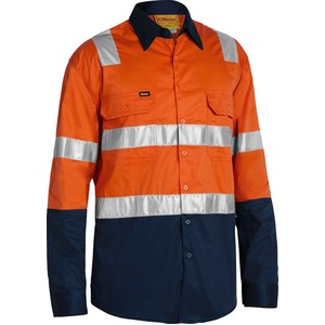 3M Taped Cool Lightweight Hi Vis Shirt With Shoulder Tape - Long Sleeve