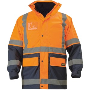 Taped Hi Vis 5 In 1 Rain Jacket